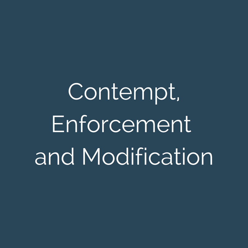 Contempt, Enforcement AND Modification Practice Area - Child Support modification frederick md